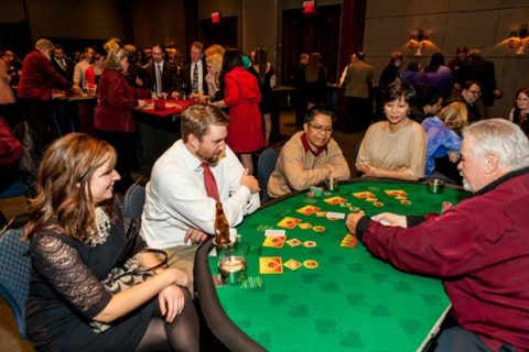blackjack tables and dealers Indiana rentals